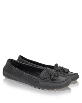 Balenciaga Leather Arena Black vintage Driving Loafers - Black