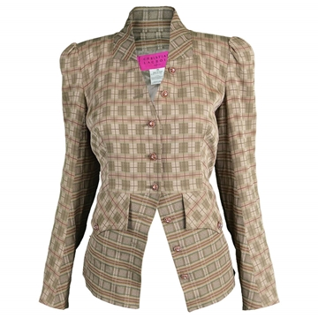 Christian Lacroix 1990s Checked vintage Riding Jacket