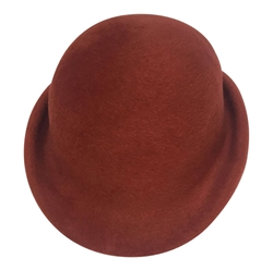 Christian Dior 1970s red vintage Bowler hat