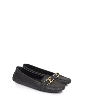 Louis Vuitton Oxford leather black vintage Loafers