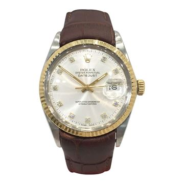 Rolex Oyster Perpetual gold and steel vintage mens watch