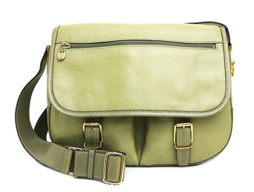 Céline Olive Green Leather Vintage Satchel