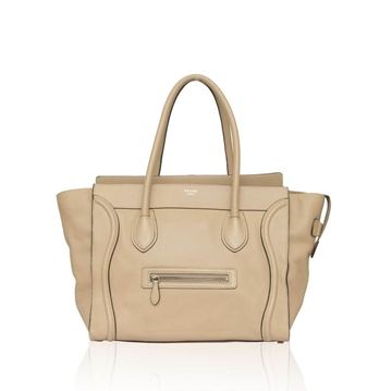 Celine Mini Luggage beige vintage Tote Bag