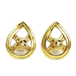 Picture of Chanel Teardrop Shaped Stud Gold Vintage Earrings