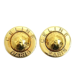 Picture of Céline Star Motif Logo Round Gold Vintage Earrings