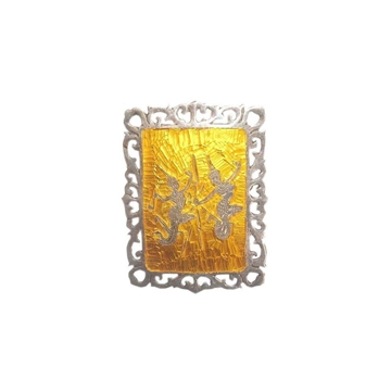 Picture of Siam Sterling Yellow Enamel Vintage Brooch