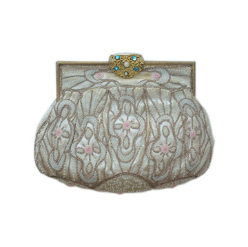 Art Deco Beaded Pastel Bag