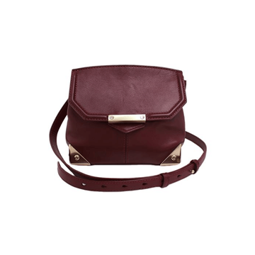 Picture of Alexander Wang Marion in Pebbled Burgundy Vintage Bag