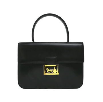Picture of Celine Calf Leather Horse Carriage Black Vintage Bag