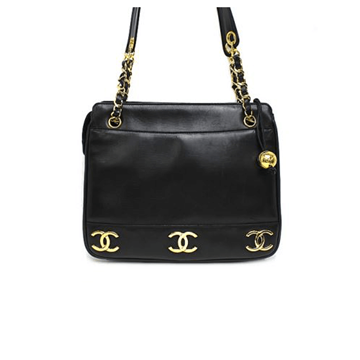 Picture of Chanel Lambskin Chain Tote Black Vintage Bag