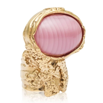 Yves Saint Laurent Pink Vintage Arty Ring