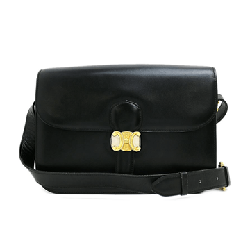 Picture of Celine Calf Leather Blazon Black Vintage Bag