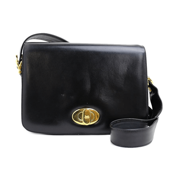 Picture of Celine Leather Horse Turn-lock Black Vintage Bag