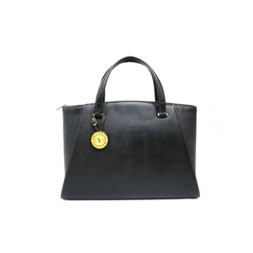 Picture of Valentino Leather Charm Tote Black Vintage Bag