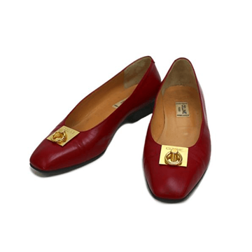 Picture of Celine Gancini Leather Red Vintage Pumps