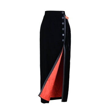 Escada 1980s black velvet vintage evening skirt