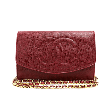 Picture of Chanel Caviarskin Chain Burgundy Vintage Wallet