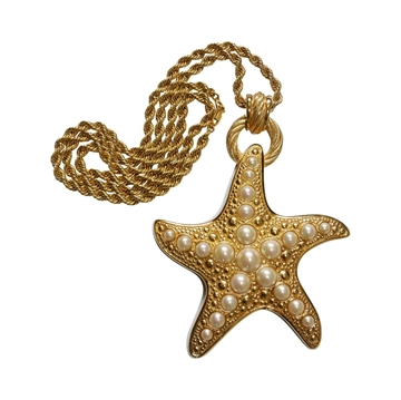 Christian Dior 1990s Starfish Vintage Pendant Necklace