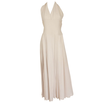 Picture of Christian Dior 1972 Haute Couture cream vintage Evening Dress