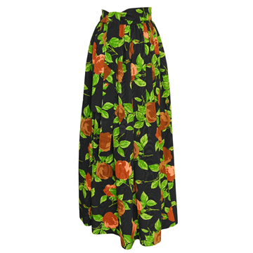 YVES SAINT LAURENT Moiré vintage Maxi Evening Skirt