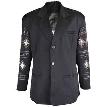 Calugi E Giannelli 1980s Mens Metal Plated & Studded vintage Jacket