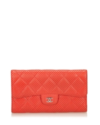 chanel-red-perforated-flap-wallet-red