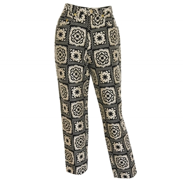 MOSCHINO 1980s Vintage Carpet Pants