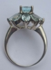 Vintage Silver & Faceted Blue Glass Ring