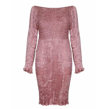 Patricia Lester Couture 1980s Silk Fortuny pink Dress