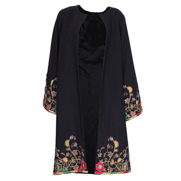 Picture of Vintage 1970s Embroidered wool blue Swing Coat