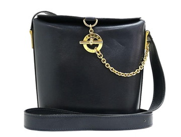 Céline Toggle and Chain Clasp Leather Vintage Shoulder Bag