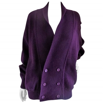 Yves Saint Laurent Slouchy Double Breasted Purple Vintage Cardigan