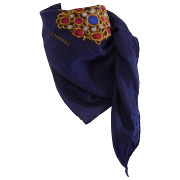 Chanel 1990s Multicolour Jewel Foulard Vintage Scarf