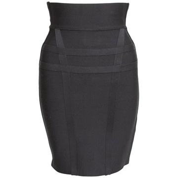 Picture of Herve Leger High Waisted Bandage black vintage Skirt