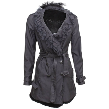 Picture of Prada Shearling black vintage Trench Coat