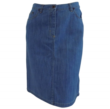 Miu Miu denim broken twill blue vintage midi skirt