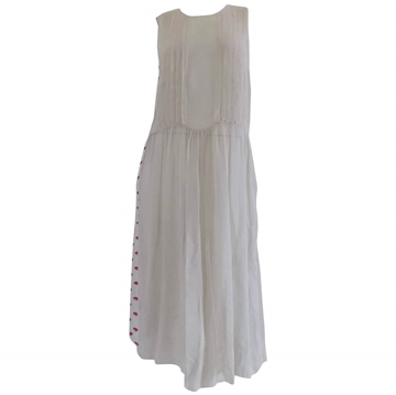 Prada Lips Sleeveless Cream Vintage Midi Dress