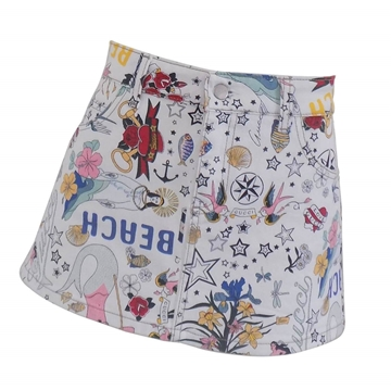 Gucci Limited Edition Tattoo Print White Vintage Mini Skirt