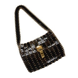PACO RABANNE 1960s Metal Disc black vintage Bag