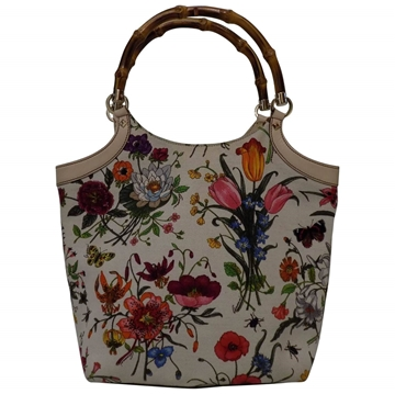Gucci Floral Bamboo vintage top handle bag