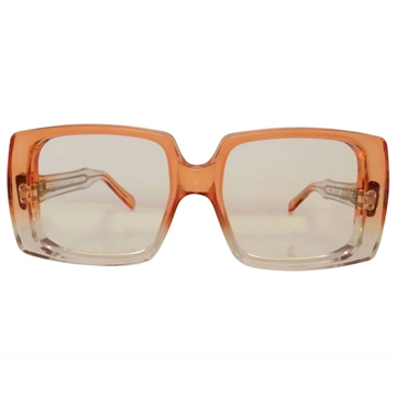 Givenchy 1980s 52-80 transparent frame orange vintage sunglasses