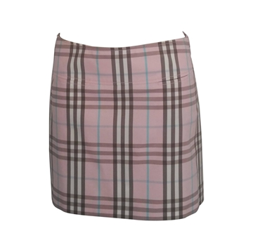 Burberry 1990s Check Pale Pink Vintage Mini Skirt