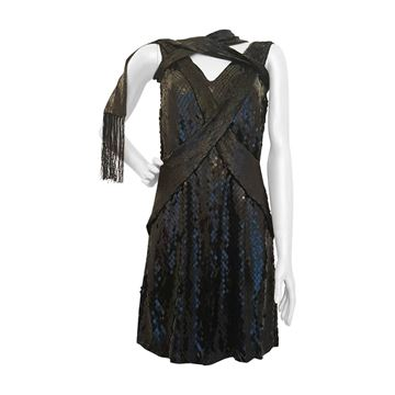 1990s Gucci by Tom Ford Sequined black Vintage Midid dress