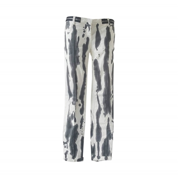 Balmain 2000s water pattern Monochrome vintage trousers