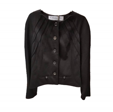Christian Dior Boutique 1990s Structured Black Vintage Jacket