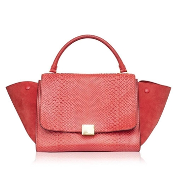 celine-red-python-medium-trapeze-bag-pink