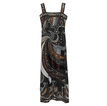 EMILIO PUCCI 1980s Swarovski Crystal vintage evening dress