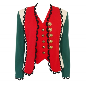 MOSCHINO A/W 1992/93 Italian Flag red & green vintage Jacket & Vest Set