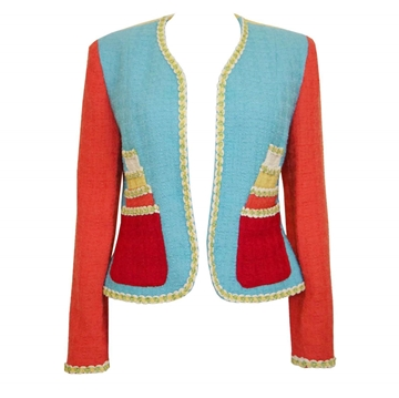 MOSCHINO 1990s Multi-Coloured Cake vintage Jacket