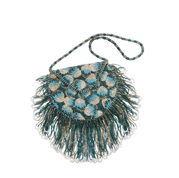Vintage 1920s blue Beaded Flapper Bag